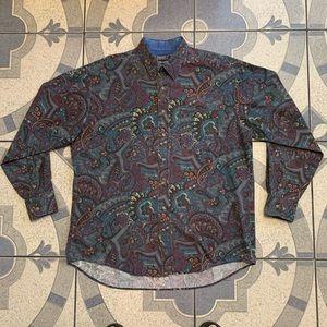 Vintage Wrangler Paisley Button Down Cowboy Shirt